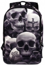 Grey Skulls Backpack